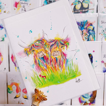 Greetings card - Silly Old Cows