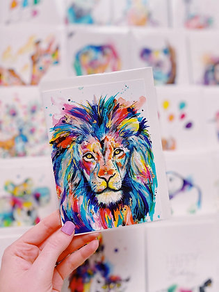 Greetings card - King of the Jungle