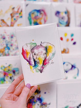 Greetings cards - Ellie Elephant
