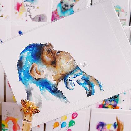 Greetings cards - Thinking Monkey