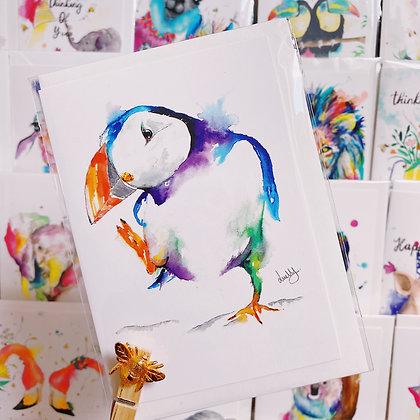 Greetings Cards - Dancing Puffin