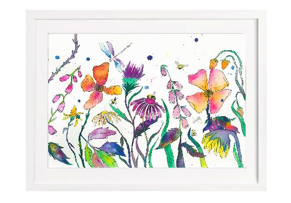 Flower Meadow Print A4 (Unframed)