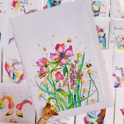 Greetings card - Countryside Flowers