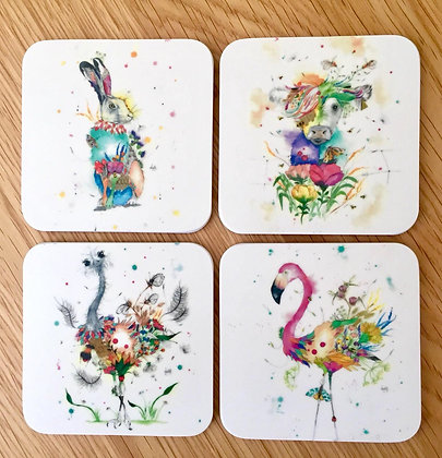 Coasters - Pack of 4 - 1 of each Animal Design