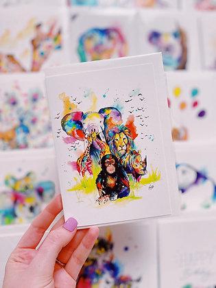 Greetings card - Safari