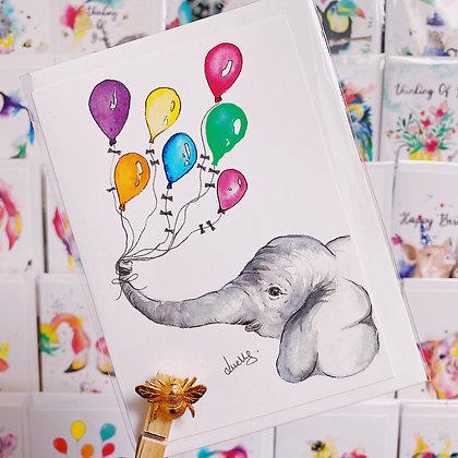 Greetings cards - Birthday Elephant