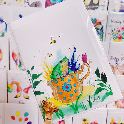 Greetings card - Teacup Frog