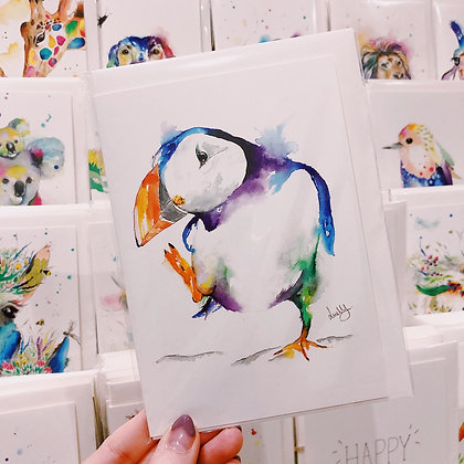 Greetings Cards - Dancing Puffin
