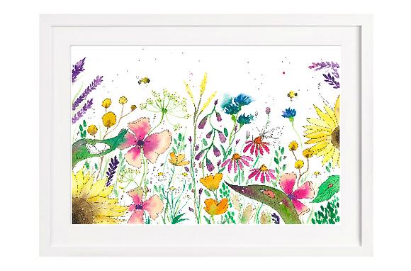 Wild Flowers Print A4 (Unframed)