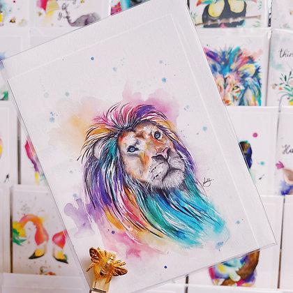 Greetings card - Lion