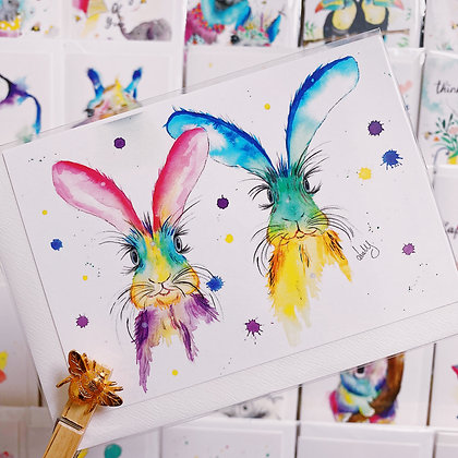 Greetings Cards - Hares