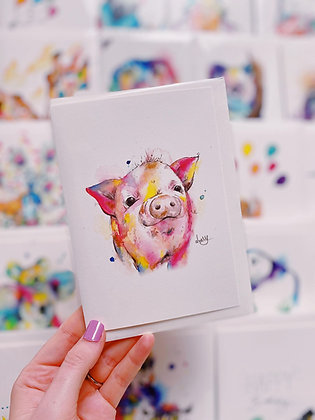 Greetings cards - Peter Pig