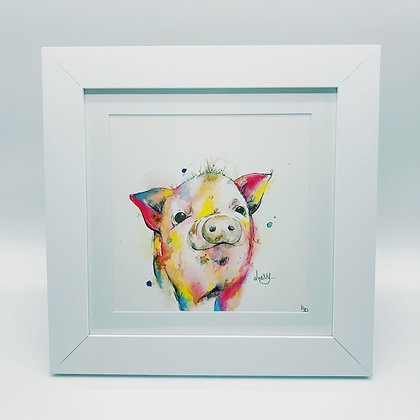 Peter Pig Limited Edition Print - Square Frame