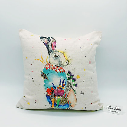 Square Cushion - Hare