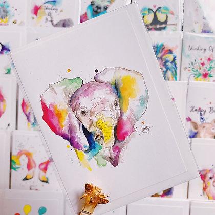 Greetings cards - Ellie Elephant