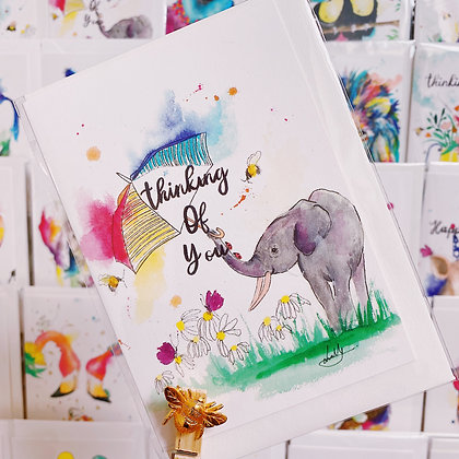 Greetings card - Thinking of you Elephant