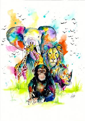 Safari - A3 Print