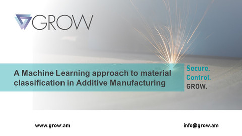 A Machine Learning approach to material classification in Additive Manufacturing