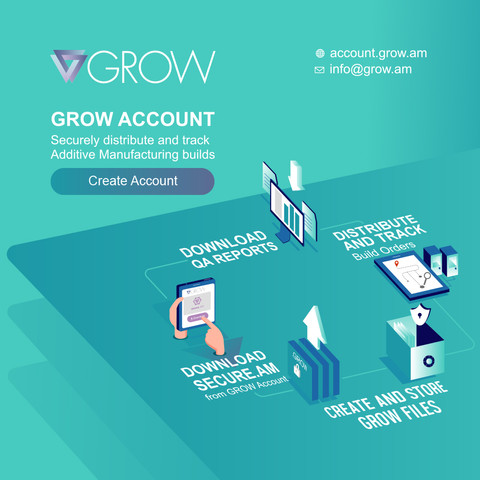 GROW Account - securely distribute and track build orders