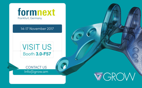 Meet us at formnext - Hall 3.0 Stand F57