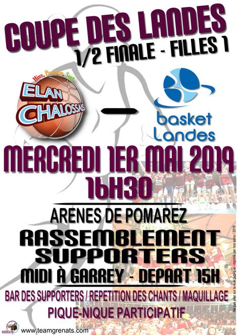 1/2 FINALE COUPE DES LANDES !!!! - RDV le 1er MAI A GARREY !!!