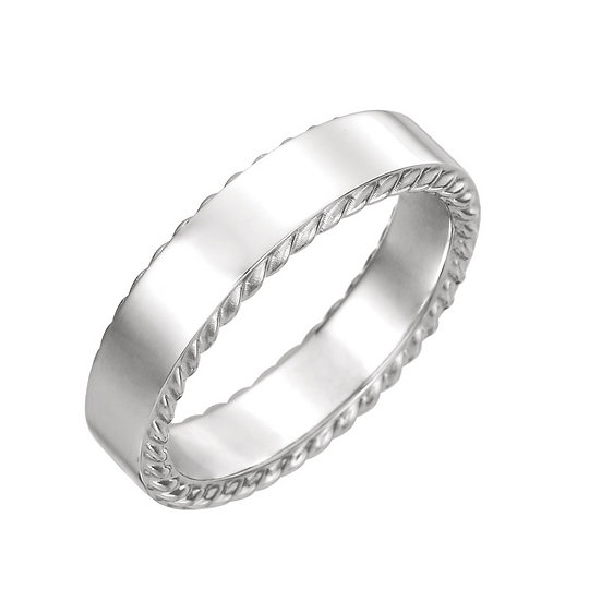 Men's Rope Pattern Wedding Band