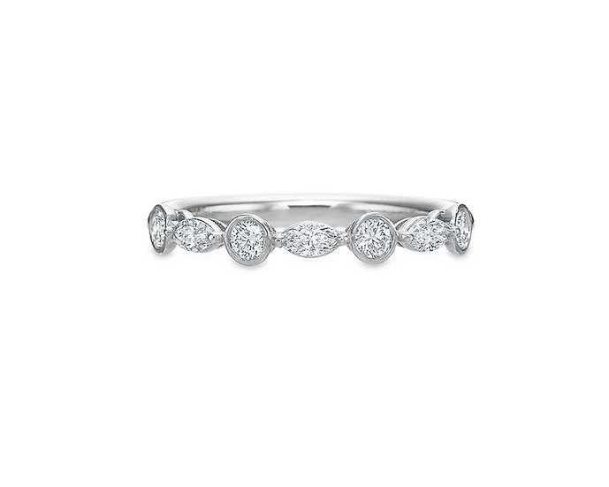 Marquise Round Diamond Band