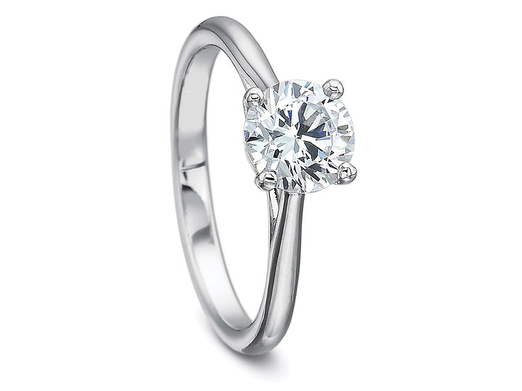 Solitaire Tapered Engagement Ring Setting