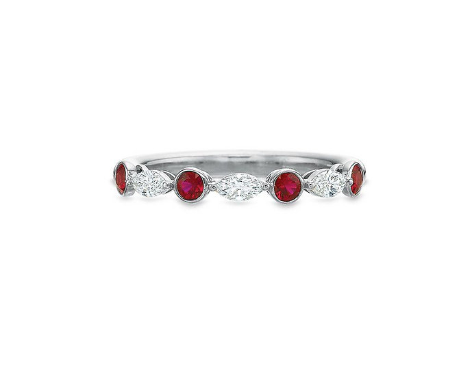 Silhouette Ruby Diamond Band