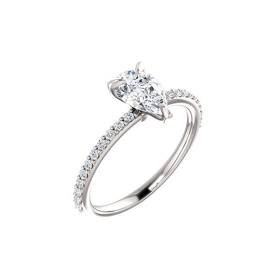 Pear Shape Diamond Engagement Ring Setting