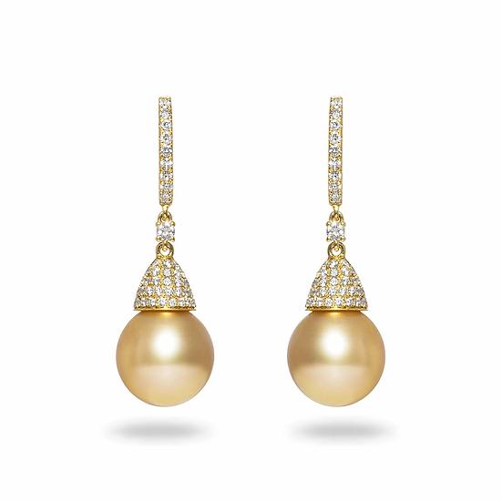 Golden South Sea Earrings