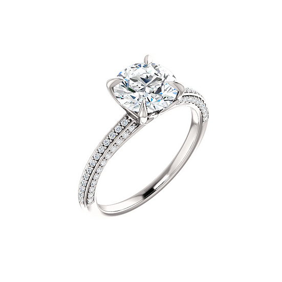 Diamond Accent Solitaire Ring