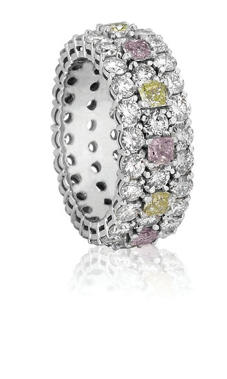 Pink & Green Diamond Band