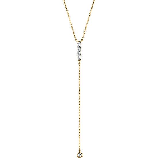 Gold Bar Y Necklace