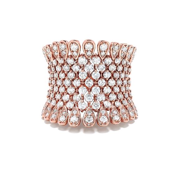 Rose Gold Diamond Lace Band