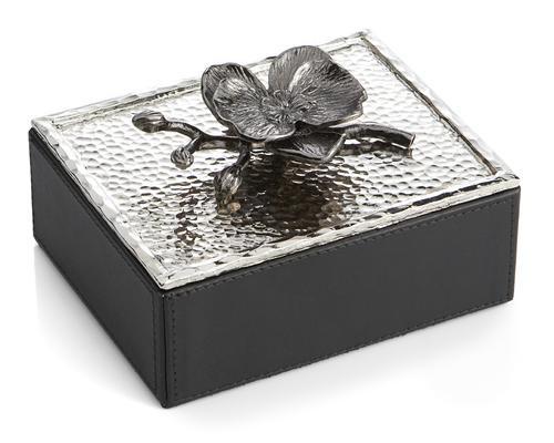 Black Orchid Mini Jewelry Box