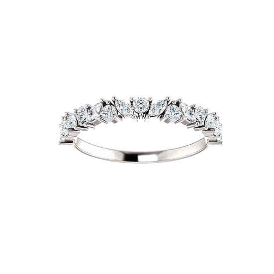 Marquise Diamond Cluster Band