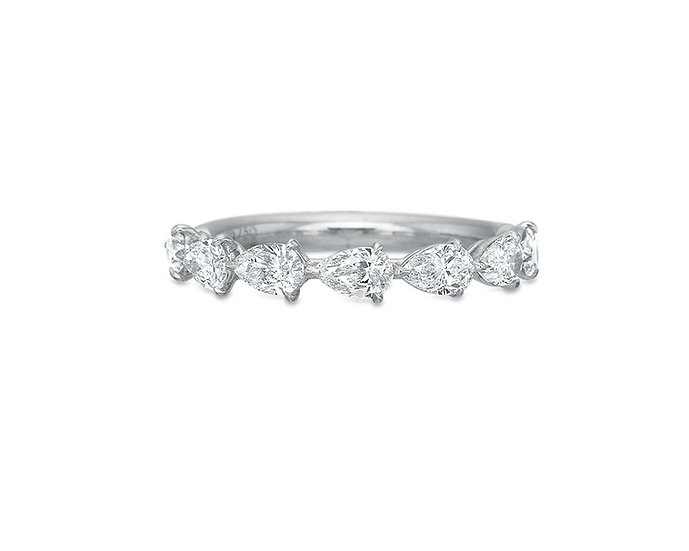 Pear Shape Diamond Wedding Band