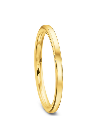 2mm yellow gold precision fit band
