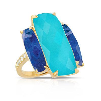 Turquoise Lapis Ring