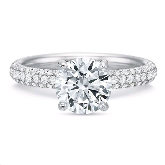 Vanessa Pave Engagement Ring Setting