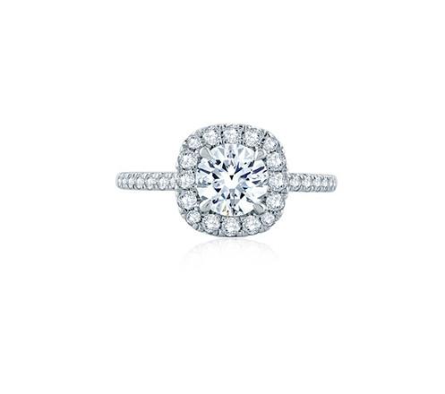 Round Diamond Halo Engagement Ring
