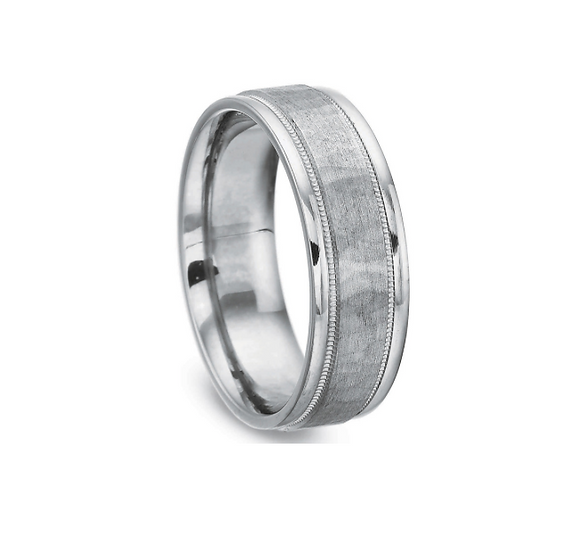 Men's 3mm hammered wedding band