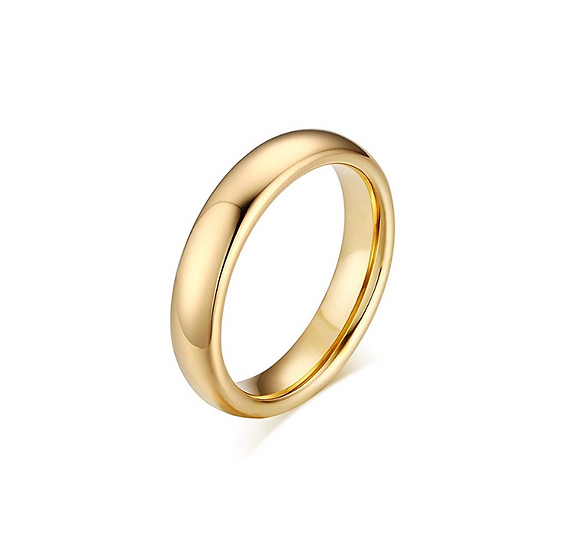 3mm yellow gold wedding band