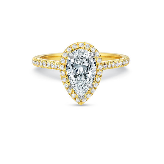 Pear Halo Engagement Ring Setting