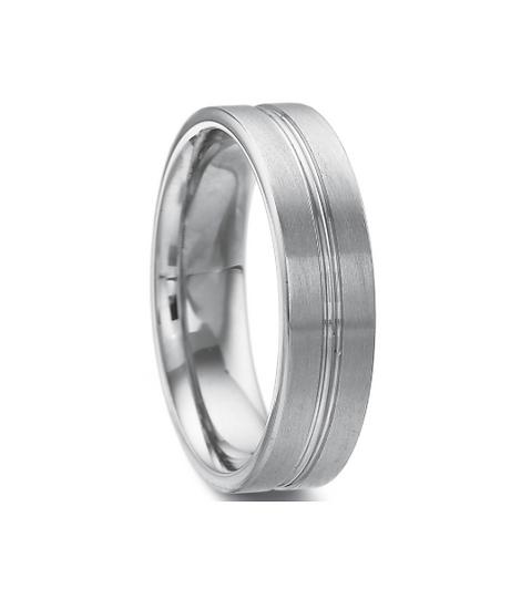 Men's white gold wedding ring