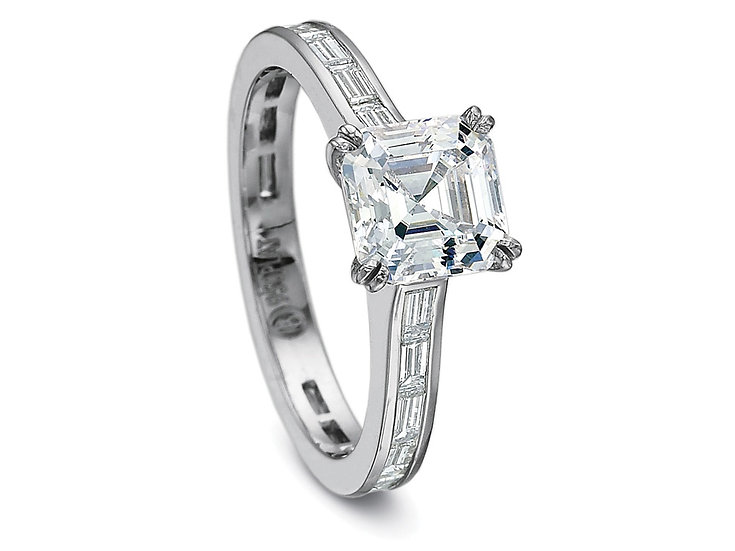 Asscher Diamond Engagement Ring Setting