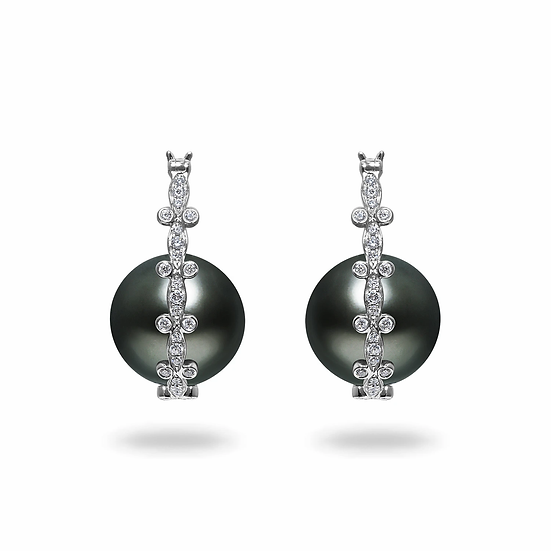 Tahitian Diamond Earrings