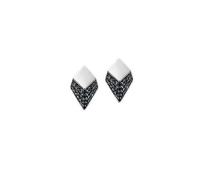 Atelier Swarovski Monceau Stud Earrings Black