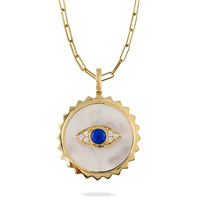 Evil eye mother of pearl